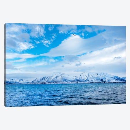 Blue Fjord Canvas Print #PSL34} by Philippe Sainte-Laudy Canvas Art