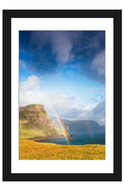 A Rainbow In The Clouds Framed Art Print