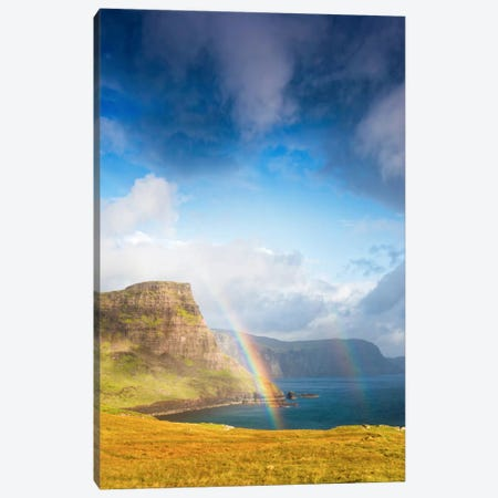 A Rainbow In The Clouds Canvas Print #PSL5} by Philippe Sainte-Laudy Canvas Wall Art