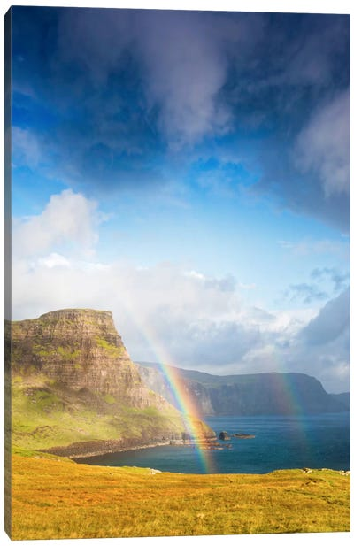 A Rainbow In The Clouds Canvas Art Print