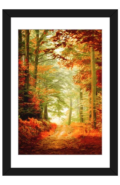 Fall Painting Framed Art Print