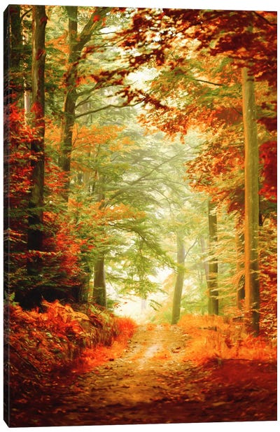 Fall Painting Canvas Art Print