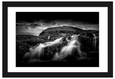 Faroes Waterfall Framed Art Print
