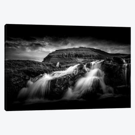 Faroes Waterfall Canvas Print #PSL64} by Philippe Sainte-Laudy Canvas Print