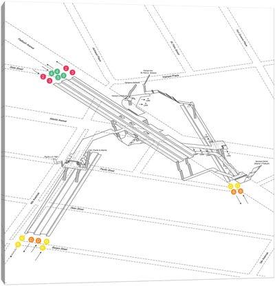 Atlantic Avenue - Barclays Center Station 3D Diagram Canvas Art Print