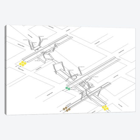 Canal Street Station 3D Diagram Canvas Print #PSN17} by Project Subway NYC Canvas Artwork