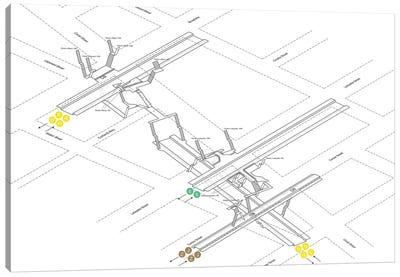 Canal Street Station 3D Diagram Canvas Art Print