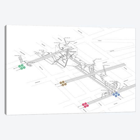 Fulton Street Station 3D Diagram - Manhattan Canvas Print #PSN23} by Project Subway NYC Canvas Art