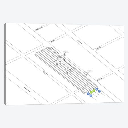 Hoyt Street - Schermerhorn Street Station 3D Diagram Canvas Print #PSN24} by Project Subway NYC Canvas Art Print