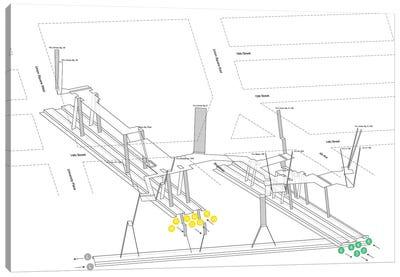 14th Street Union Square Station 3D Diagram Canvas Art Print