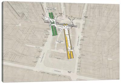 14th Street Union Square - Subway 3D X-Ray Canvas Art Print