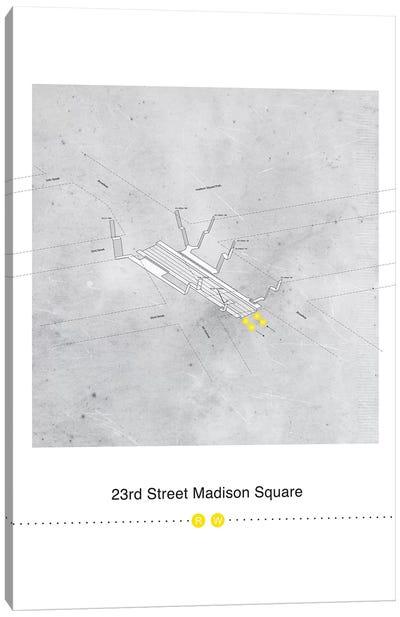 23rd Street Station 3D Map Poster Canvas Art Print