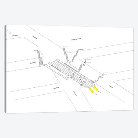 23rd Street Station 3D Diagram Canvas Print #PSN4} by Project Subway NYC Canvas Artwork
