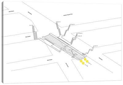 23rd Street Station 3D Diagram Canvas Art Print