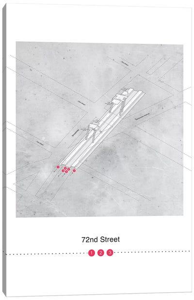 72nd Street Station 3D Map Poster Canvas Art Print