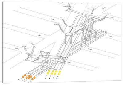 34th Street Herald Square Station 3D Diagram Canvas Art Print