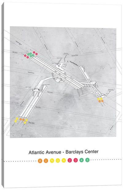 Atlantic Avenue - Barclays Center Station 3D Map Poster Canvas Art Print