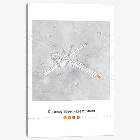 Delancey Street - Essex Street Station 3D Map Posterm Canvas Print #PSN73} by Project Subway NYC Canvas Print