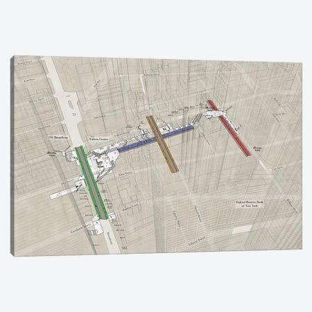 Fulton Street - Subway 3D X-Ray Canvas Print #PSN76} by Project Subway NYC Canvas Artwork