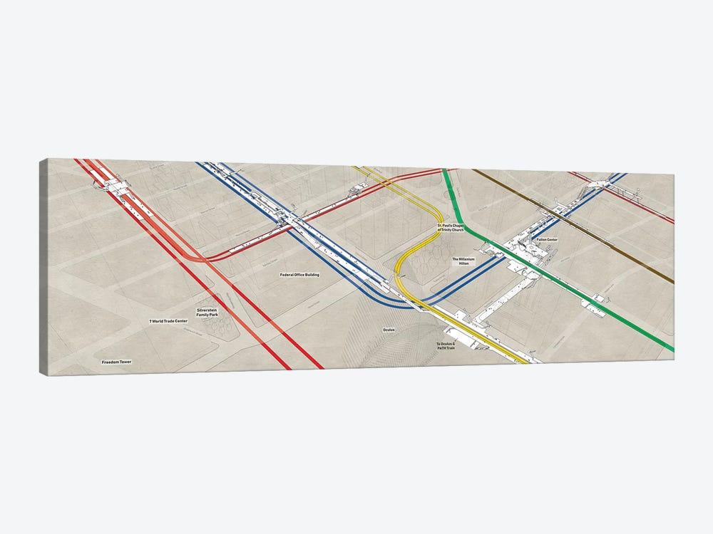 Nyc Subway Map Wood 3d.Manhattan World Trade Center Subway Clust Project Subway Nyc Icanvas