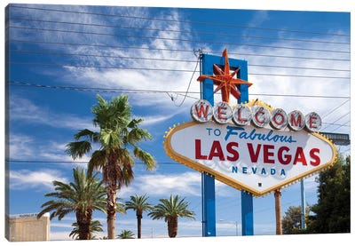 """The """"Welcome To Fabulous Las Vegas"""" Sign, Paradise, Clark County, Nevada, USA Canvas Print #PSO11"""