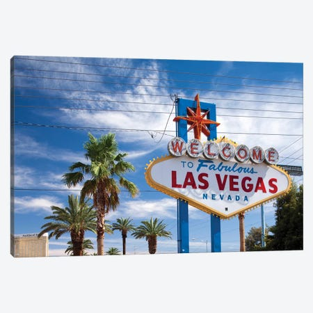 """The """"Welcome To Fabulous Las Vegas"""" Sign, Paradise, Clark County, Nevada, USA Canvas Print #PSO11} by Paul Souders Canvas Art"""