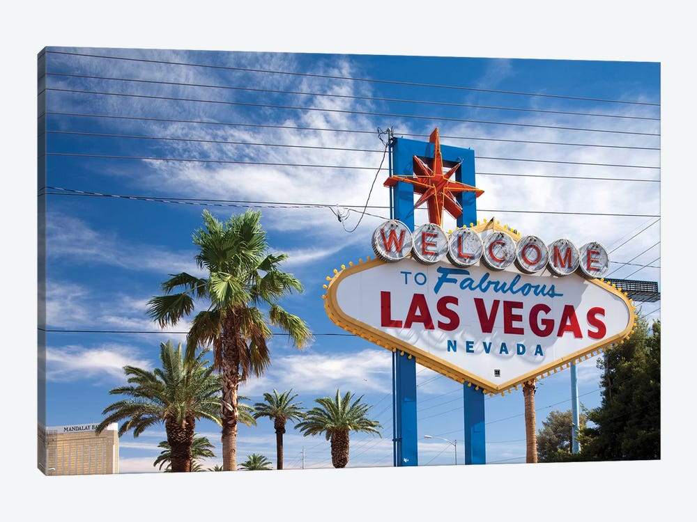 "The ""Welcome To Fabulous Las Vegas"" Sign, Paradise, Clark County, Nevada, USA by Paul Souders 1-piece Canvas Art"