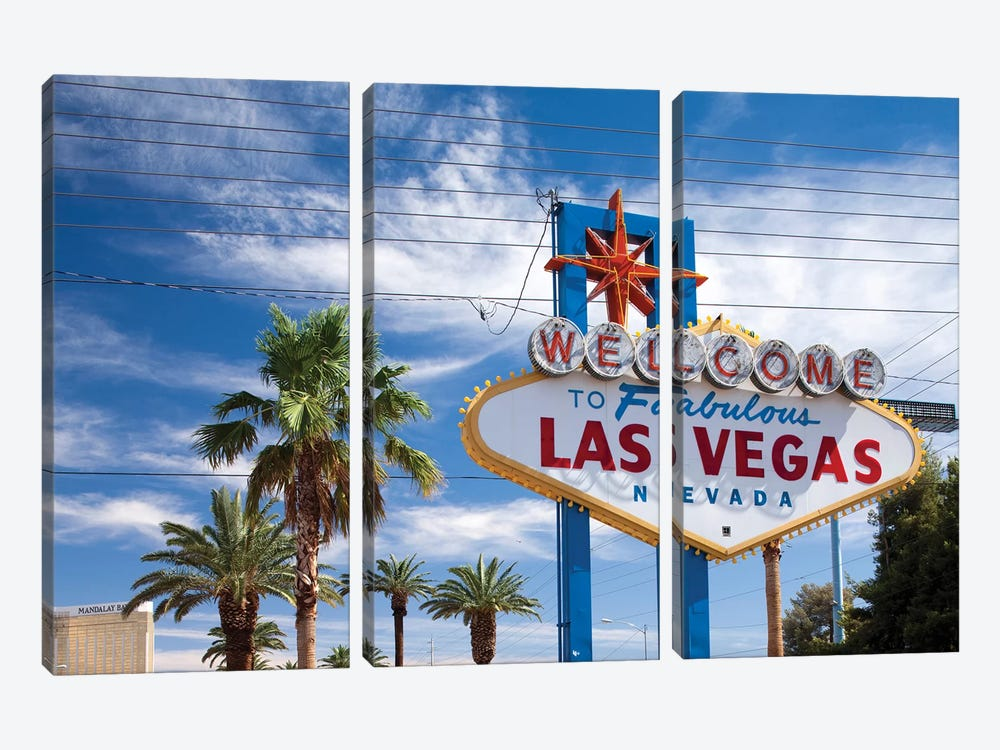 "The ""Welcome To Fabulous Las Vegas"" Sign, Paradise, Clark County, Nevada, USA by Paul Souders 3-piece Canvas Artwork"