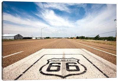 U.S. Route 66 Highway Marker, Tucumcari, Quay County, New Mexico, USA Canvas Art Print