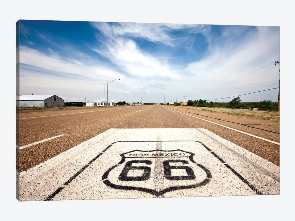 U.S. Route 66 Highway Marker, Tucumcari, Quay County, New Mexico, USA by Paul Souders 1-piece Canvas Art Print