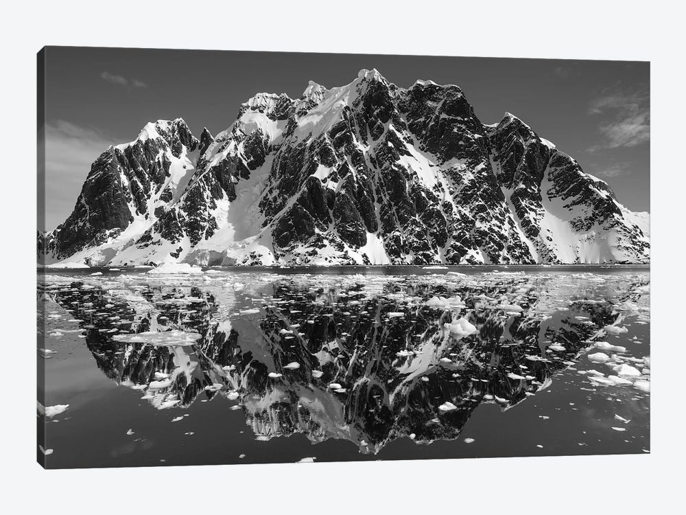 Mountain Reflections In B&W, Lemaire Channel, Antarctica by Paul Souders 1-piece Art Print