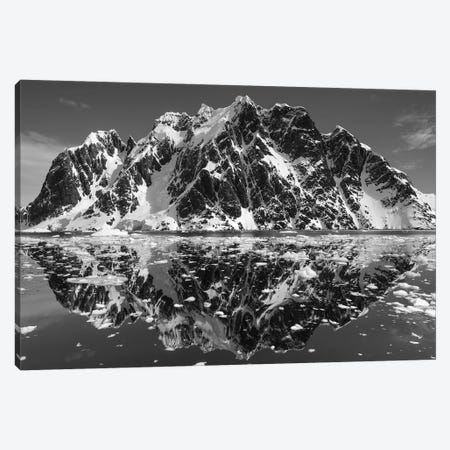 Mountain Reflections In B&W, Lemaire Channel, Antarctica Canvas Print #PSO2} by Paul Souders Canvas Art