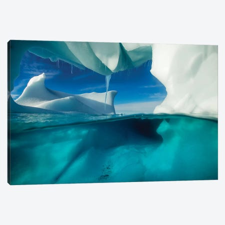 Underwater View Of An Iceberg, Enterprise Island, Antarctica Canvas Print #PSO3} by Paul Souders Canvas Wall Art