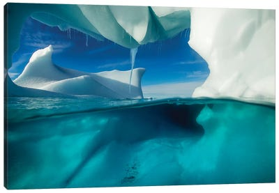Underwater View Of An Iceberg, Enterprise Island, Antarctica Canvas Art Print