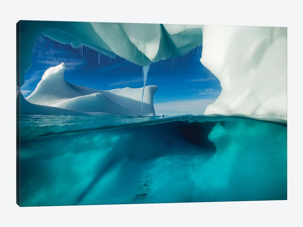 Underwater View Of An Iceberg, Enterprise Island, Antarctica by Paul Souders 1-piece Canvas Wall Art