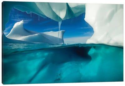 Underwater View Of An Iceberg, Enterprise Island, Antarctica Canvas Art Print