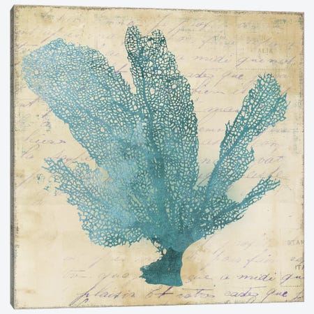 Blue Coral I Canvas Print #PST110} by PI Studio Canvas Artwork