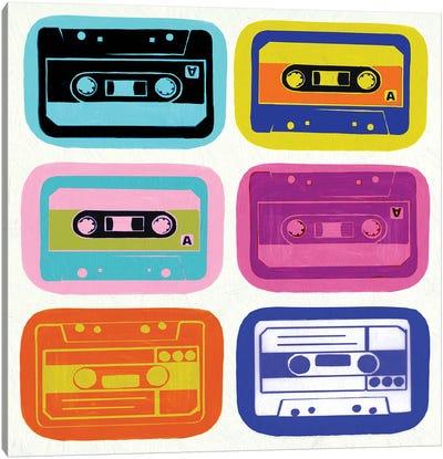 Retro Cassettes Canvas Art Print