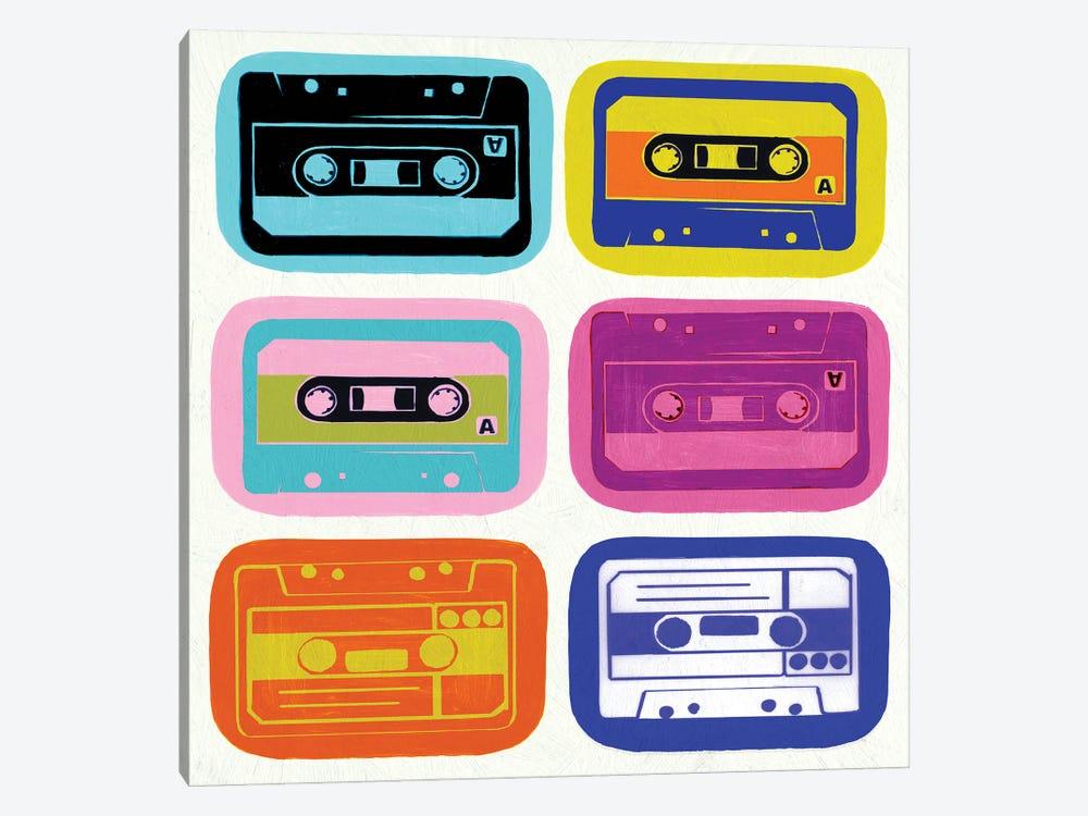 Retro Cassettes by PI Studio 1-piece Canvas Art Print