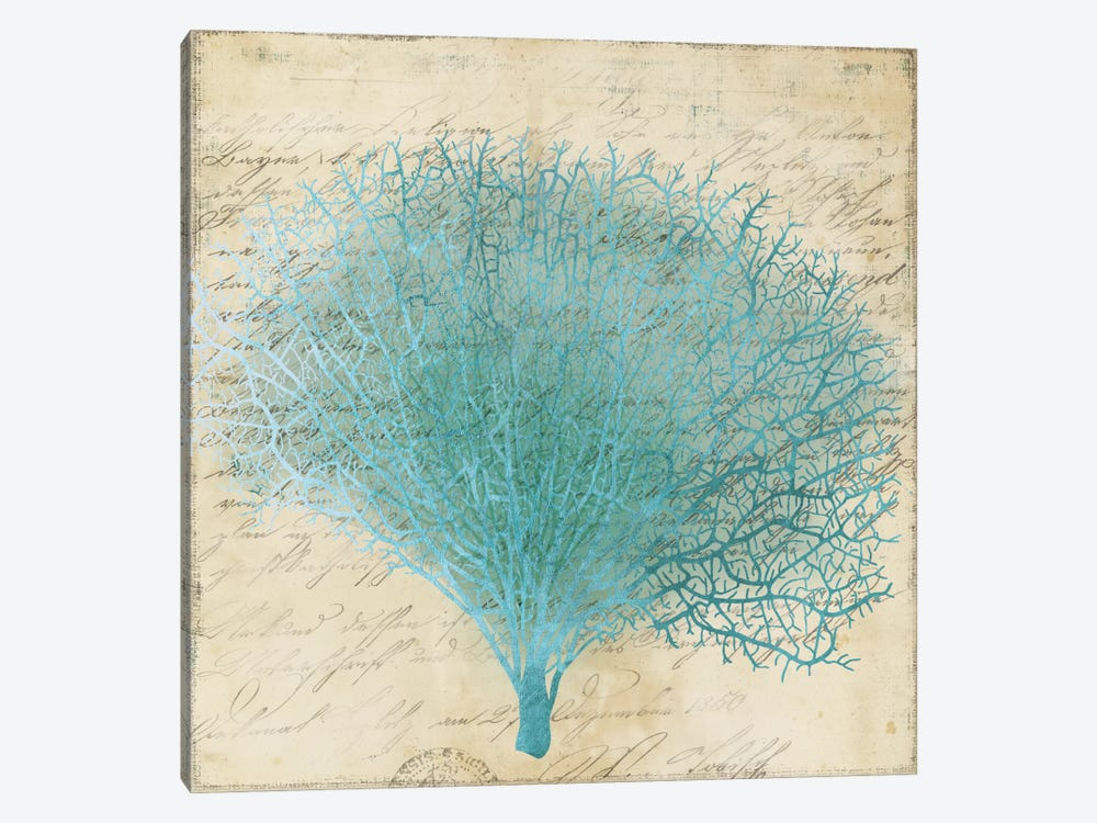 Blue Coral III by PI Studio 1-piece Canvas Art
