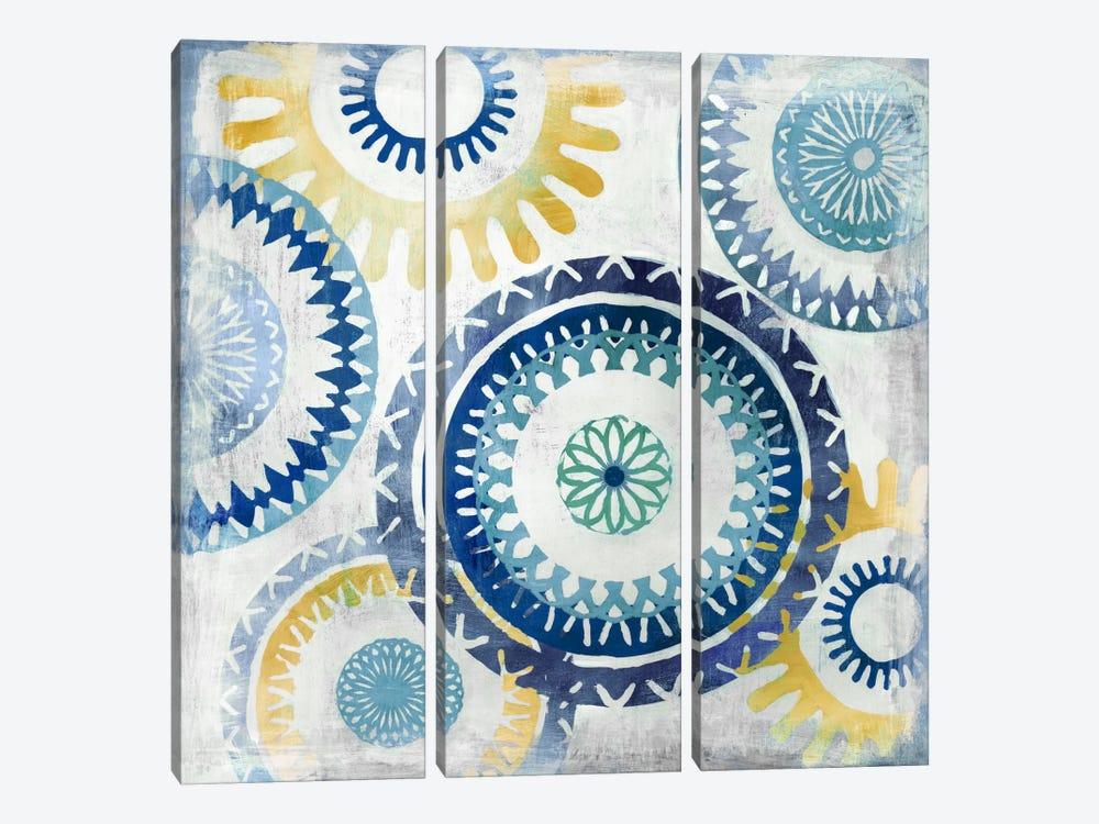 Blue Ease II by PI Studio 3-piece Canvas Art Print