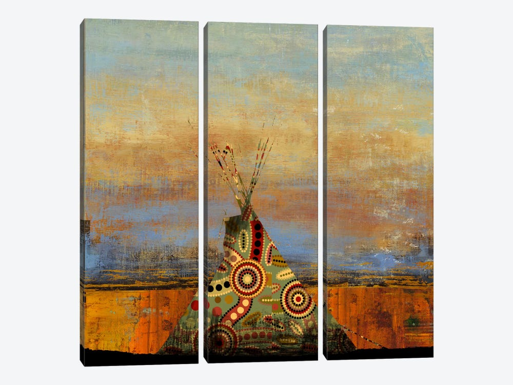 Blue Face by PI Studio 3-piece Canvas Wall Art