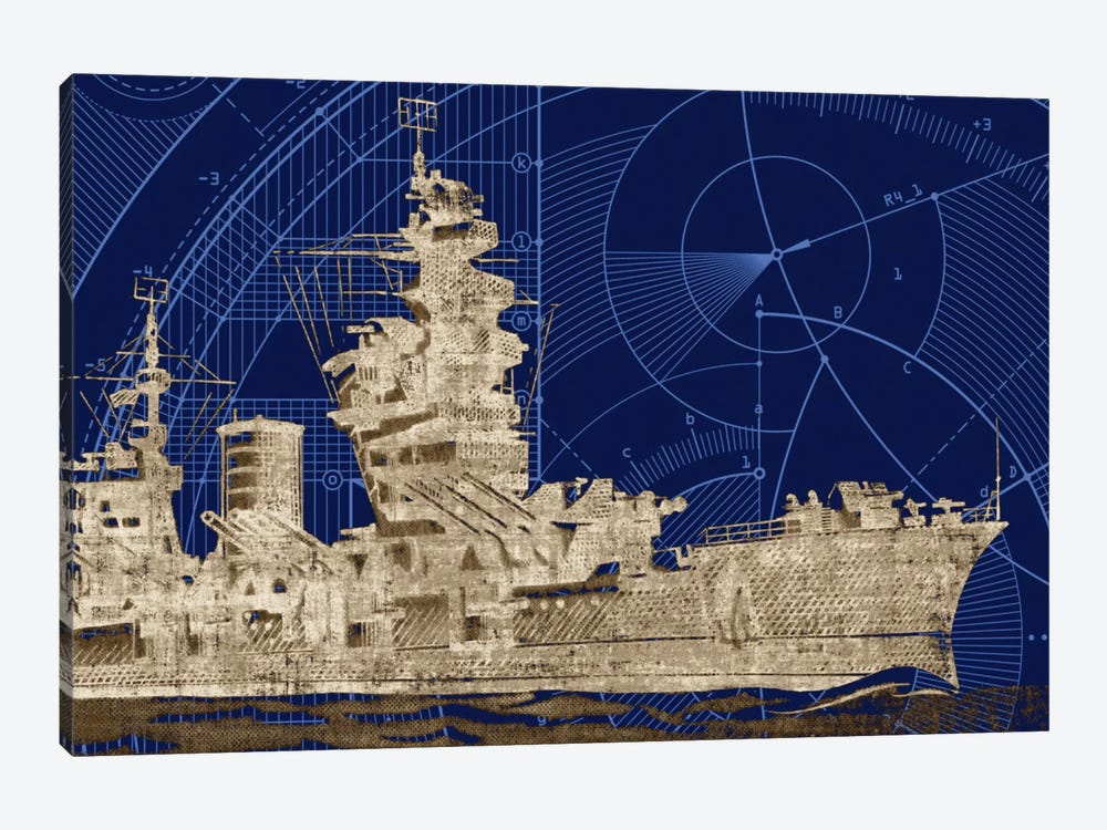 Blueprint Submarine I by PI Studio 1-piece Canvas Print