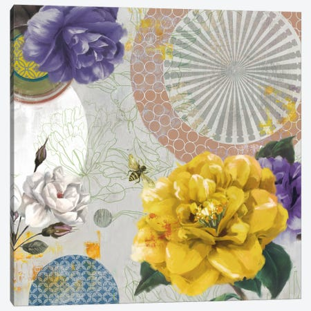 Botannical Collage Canvas Print #PST126} by PI Studio Canvas Wall Art