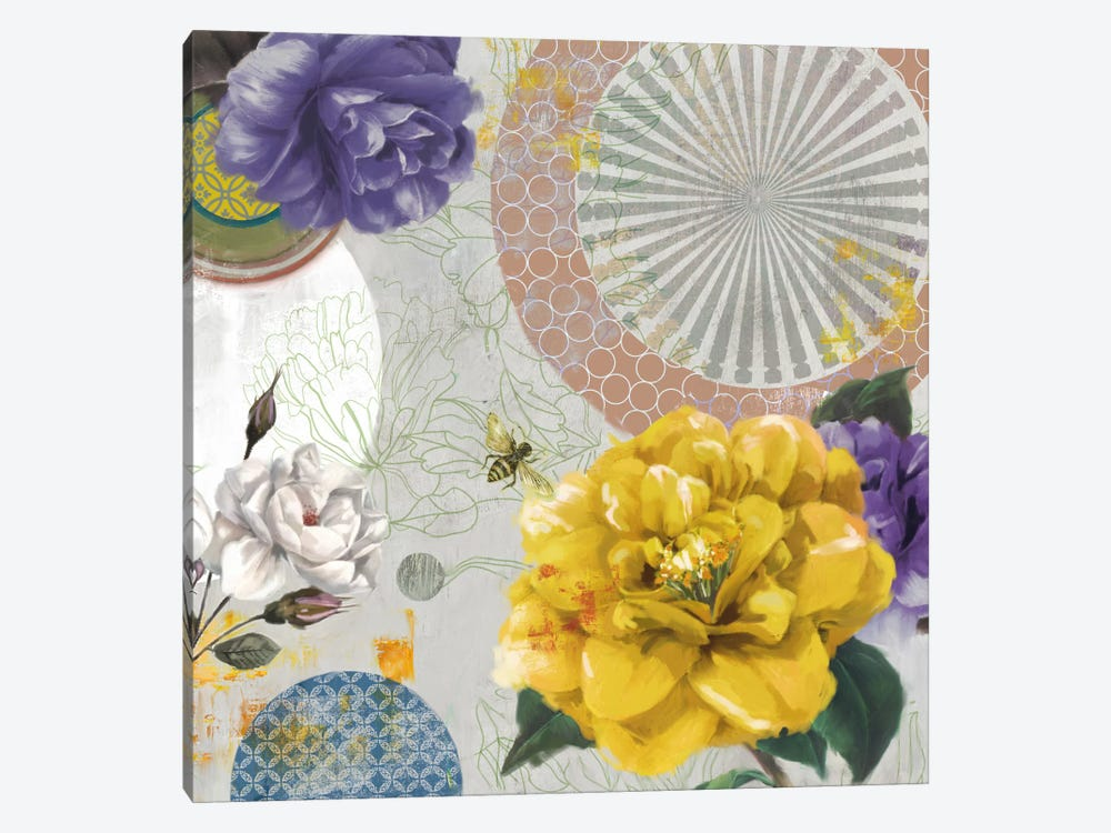 Botannical Collage 1-piece Canvas Print