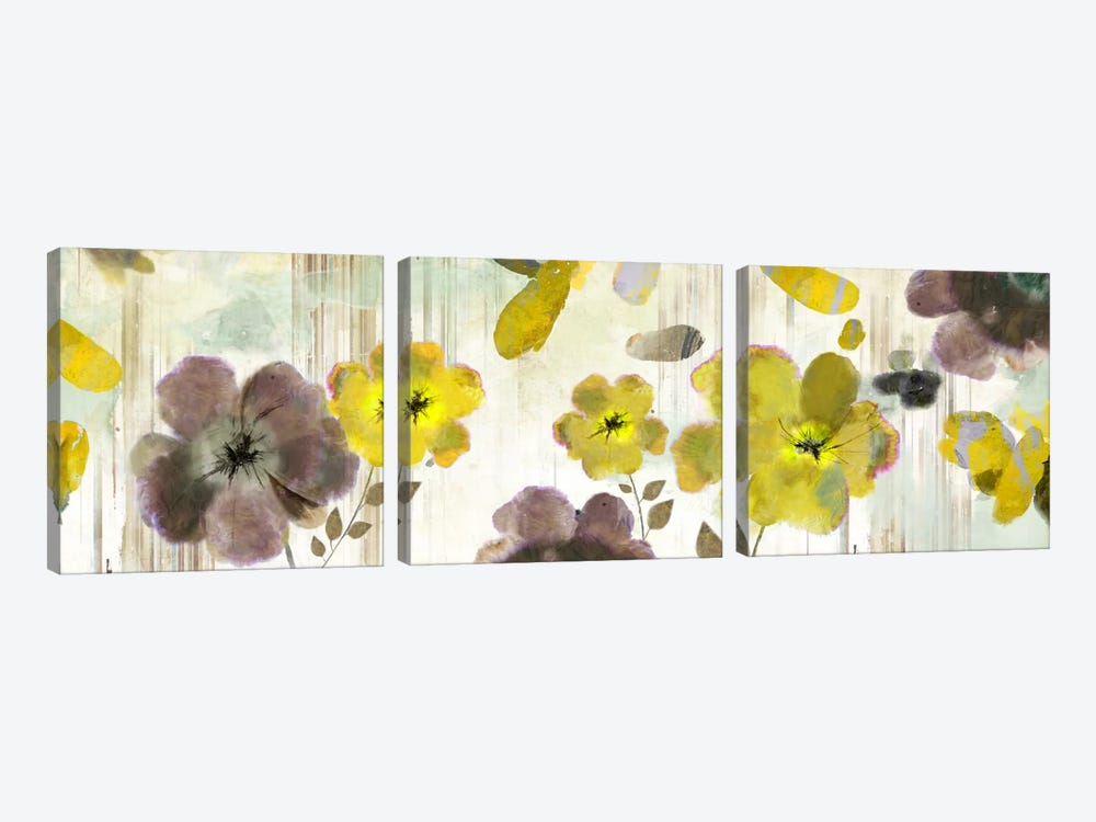 Bouquet Florals I by PI Studio 3-piece Canvas Wall Art