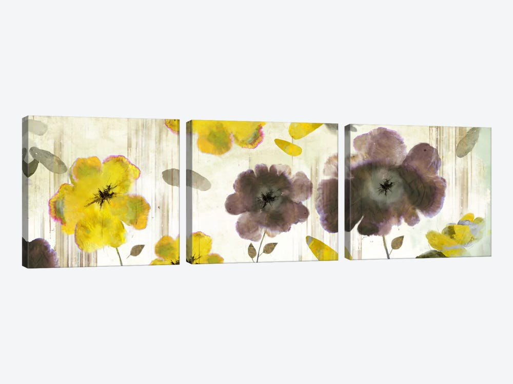 Bouquet Florals II by PI Studio 3-piece Canvas Art