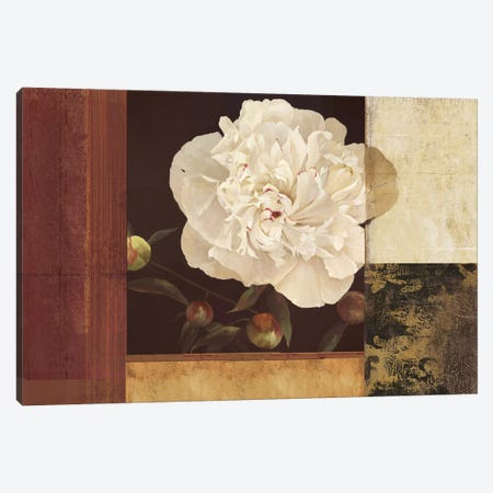 Bronzed Floral Canvas Print #PST135} by PI Studio Canvas Art Print