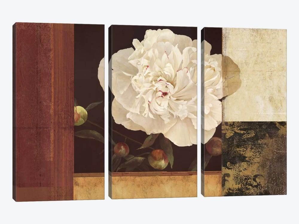 Bronzed Floral by PI Studio 3-piece Canvas Art Print