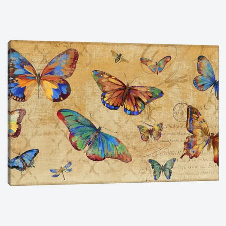 Butterflies In Flight Canvas Print #PST142} by PI Studio Art Print